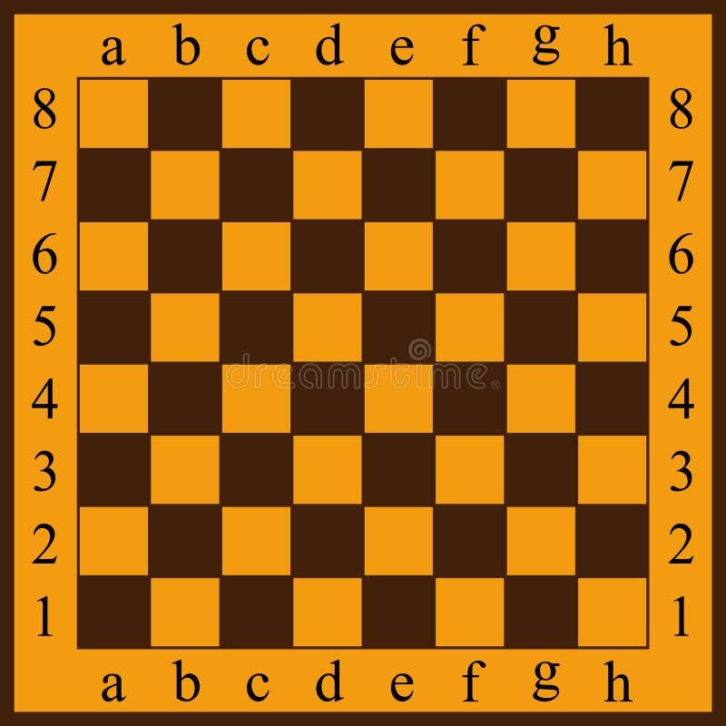 Illustrazione di vettore di una scacchiera Cellule gialle e marroni royalty illustrazione gratis