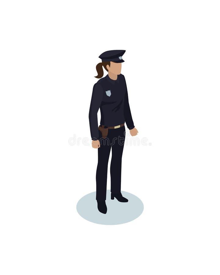 Illustrazione di vettore di Woman Icon dell'ufficiale di polizia illustrazione vettoriale
