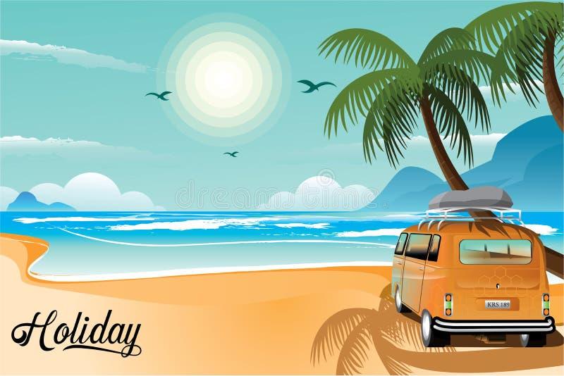 Illustrazione di viaggio del fondo di immagine di festa immagine stock libera da diritti