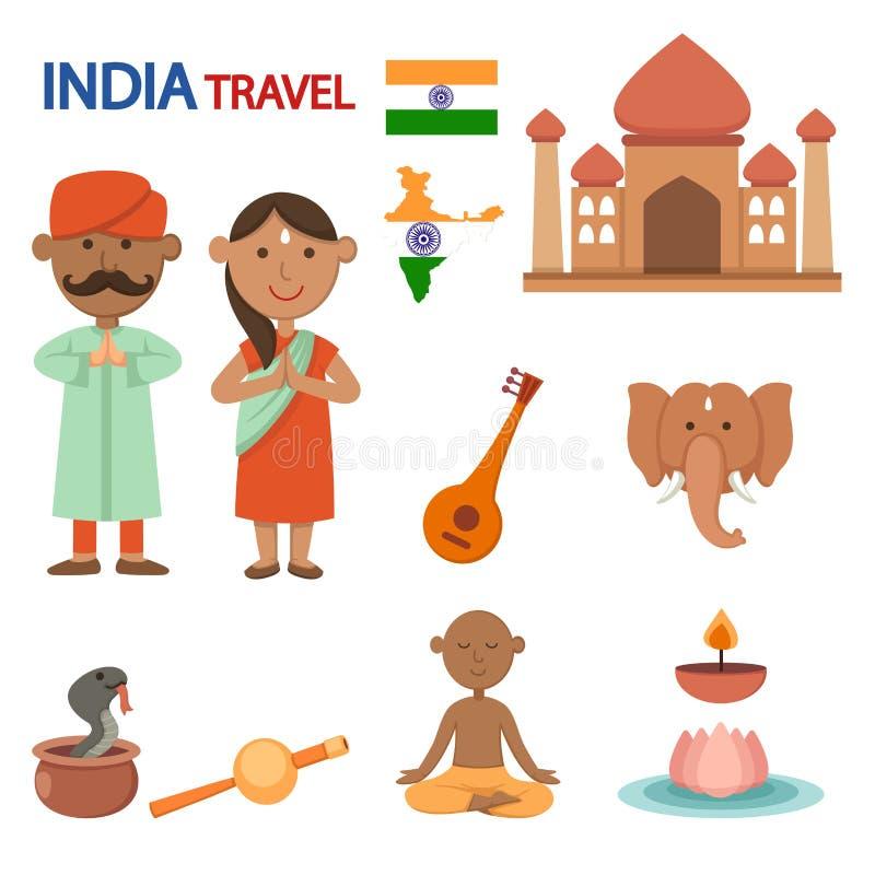 Illustrazione di viaggio dell'India illustrazione vettoriale