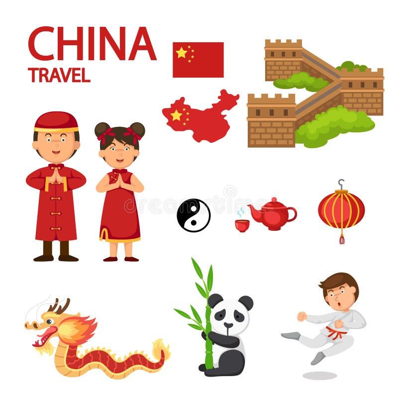 Illustrazione di viaggio della Cina illustrazione vettoriale