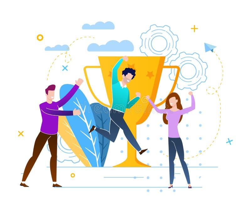 Illustrazione di Victory With Prize Fund Vector illustrazione di stock
