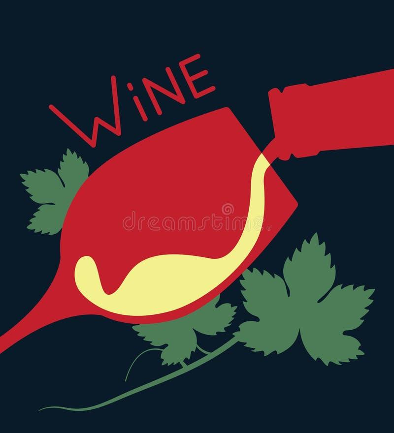 Illustrazione di vino royalty illustrazione gratis