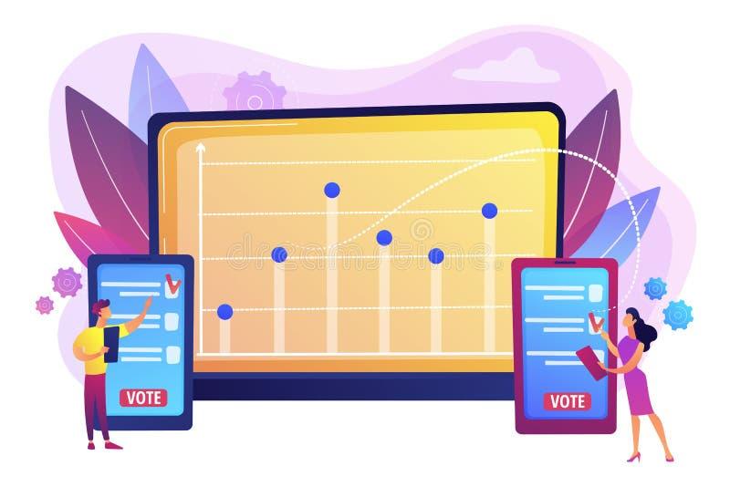 Illustrazione di voto elettronica di vettore di concetto illustrazione di stock