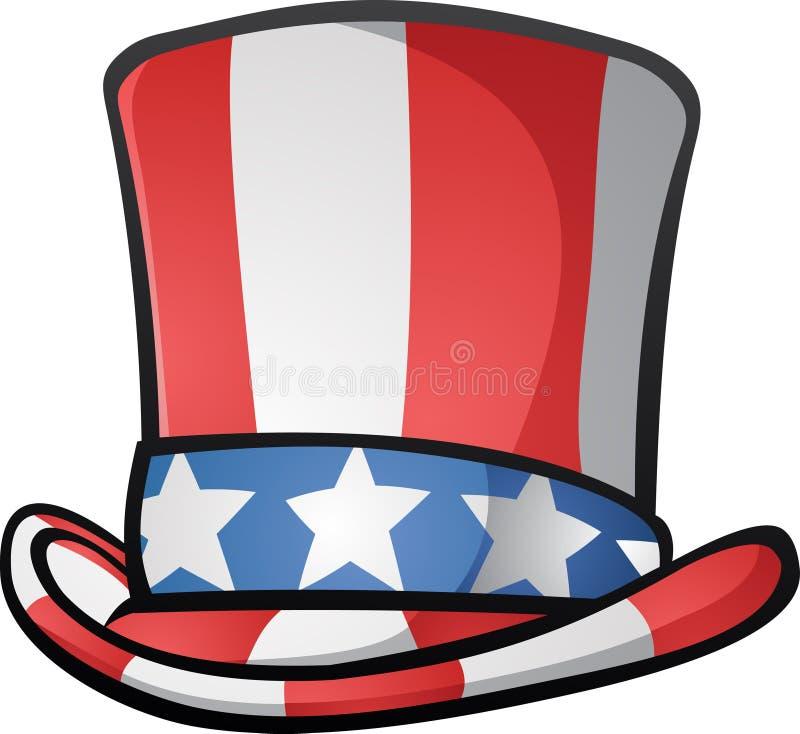 Illustrazione di zio Sam Top Hat American Cartoon illustrazione di stock