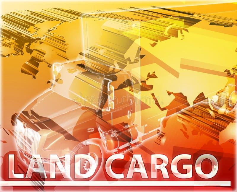 Illustrazione digitale di concetto dell'estratto del carico della terra illustrazione di stock