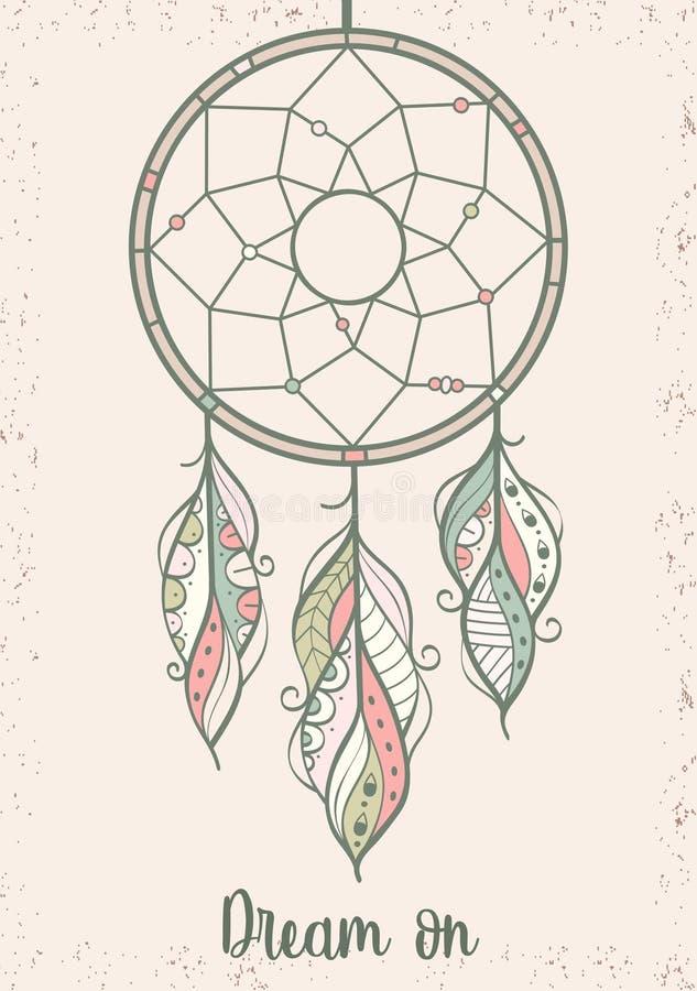 Illustrazione disegnata a mano del collettore di sogno illustrazione vettoriale