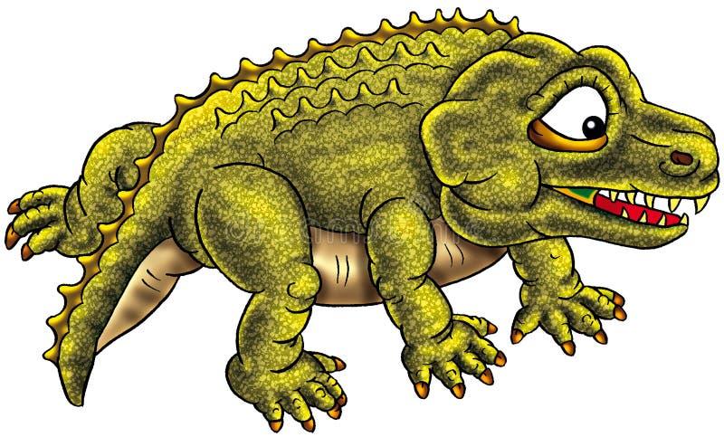 Illustrazione divertente del dinosauro illustrazione di stock