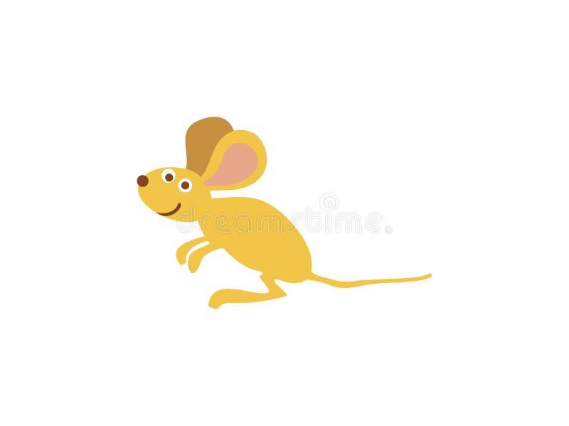 Illustrazione divertente di vettore del personaggio del topo di campo illustrazione di stock