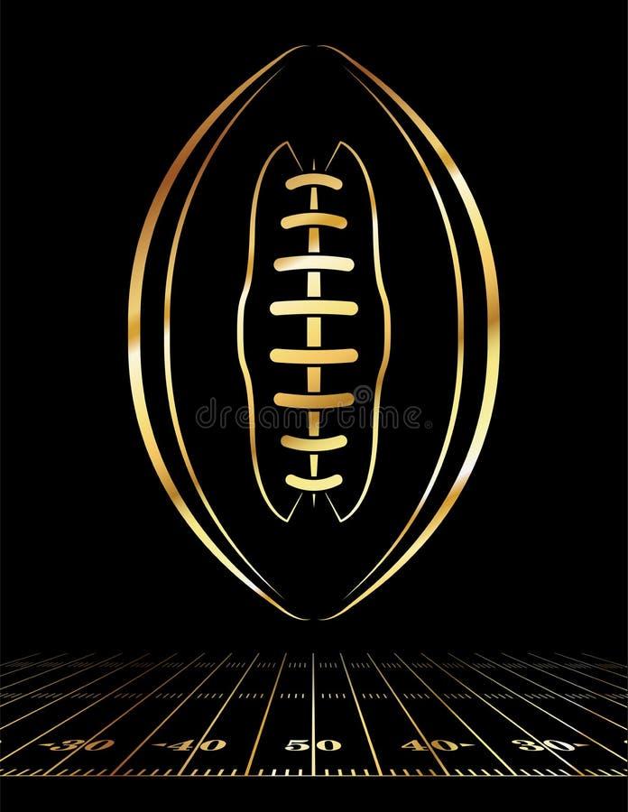 Illustrazione dorata dell'icona di football americano royalty illustrazione gratis