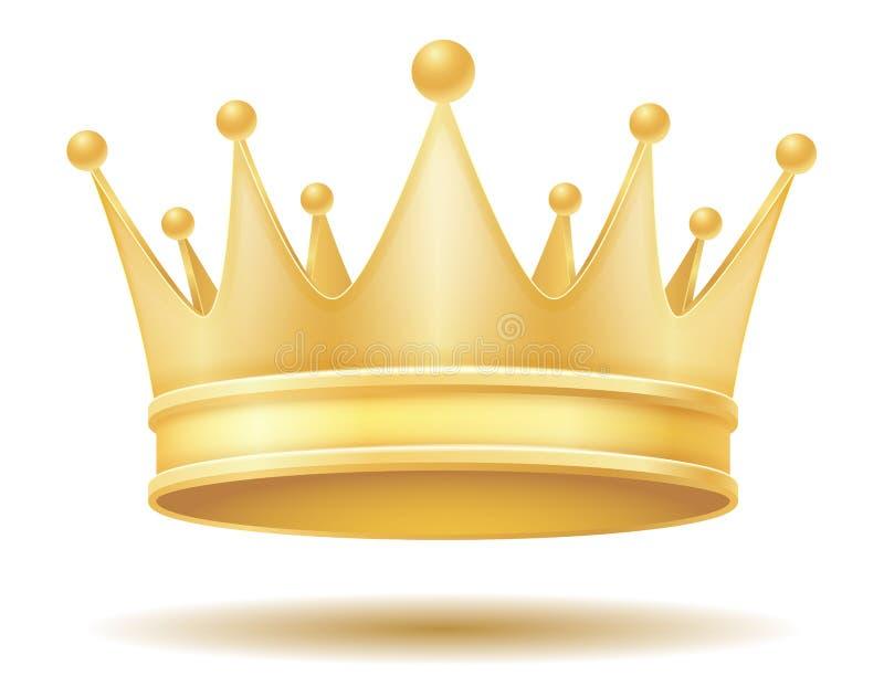 Illustrazione dorata reale di vettore della corona di re royalty illustrazione gratis