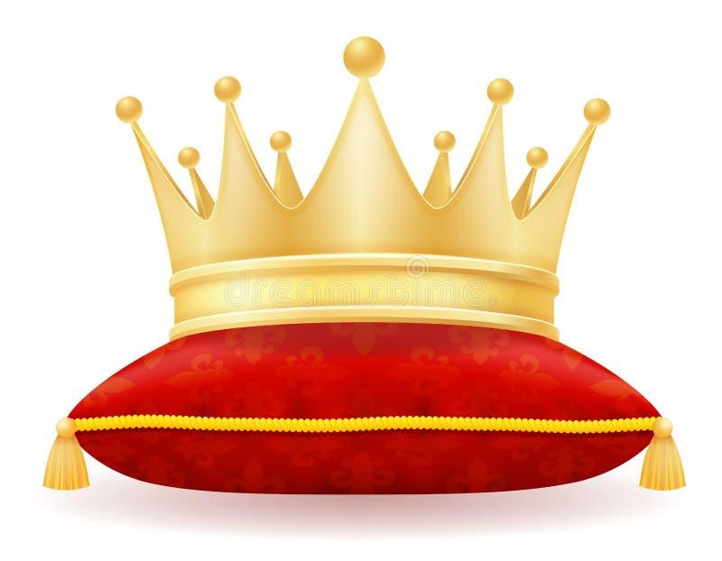 Illustrazione dorata reale di vettore della corona di re illustrazione vettoriale