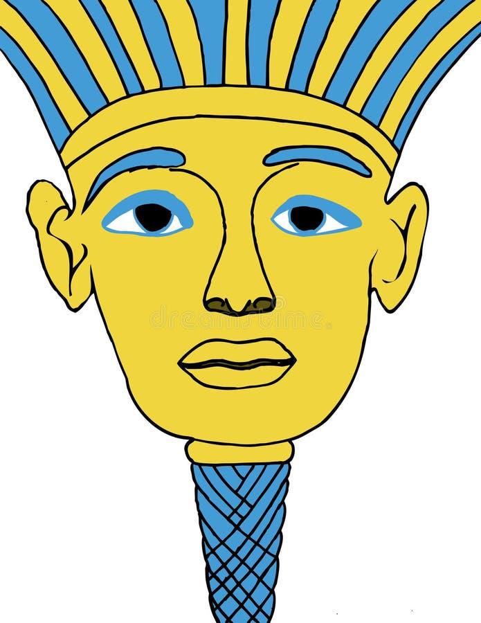 Illustrazione egiziana della maschera di protezione immagine stock