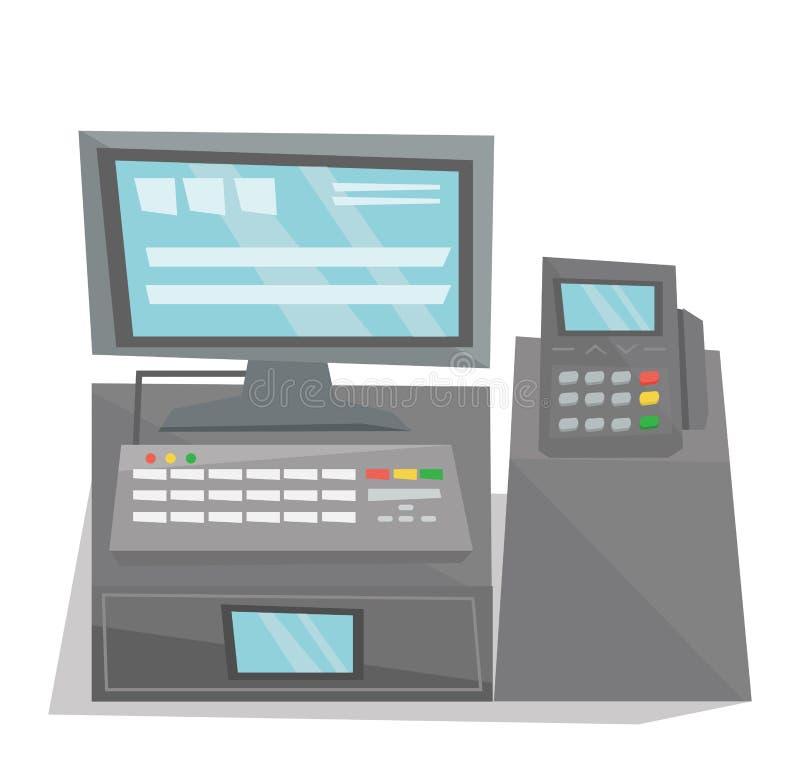 Illustrazione elettronica di vettore del registratore di cassa royalty illustrazione gratis