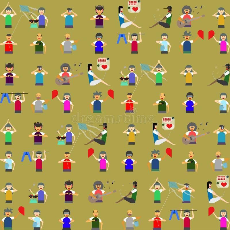 Illustrazione eps10 di vettore della comunità della gente del modello illustrazione vettoriale