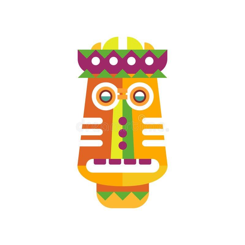 Illustrazione facciale etnica variopinta di vettore della maschera su un fondo bianco illustrazione vettoriale