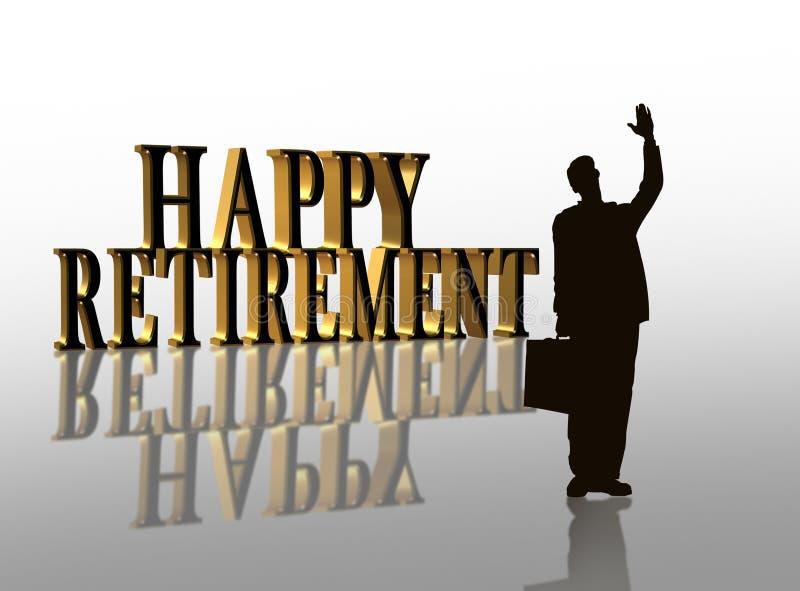 Illustrazione felice 3D di pensione illustrazione di stock