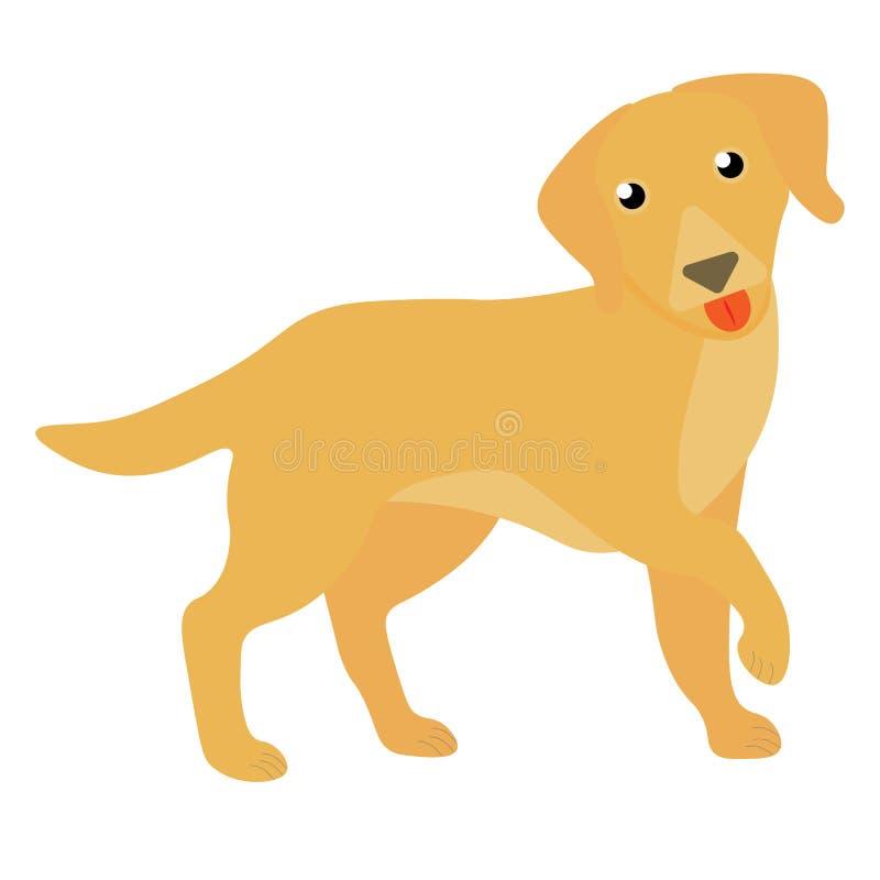 Illustrazione felice del cane di web Illustrazione dell'animale domestico di animale domestico dell'icona della razza del cane di illustrazione vettoriale