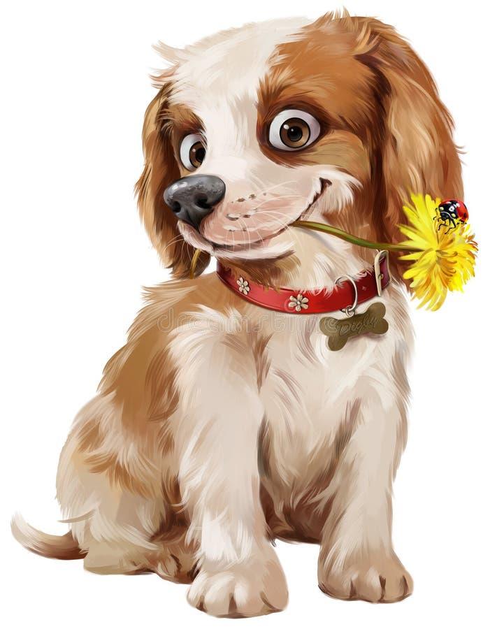 Illustrazione felice del cucciolo royalty illustrazione gratis