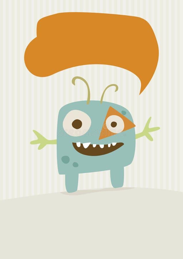 Illustrazione felice del mostro immagine stock