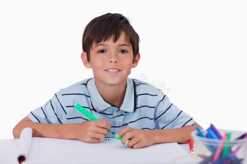Illustrazione felice del ragazzo fotografia stock libera da diritti