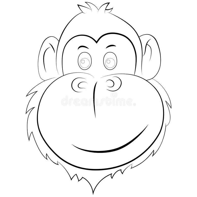 Illustrazione felice della scimmia immagini stock libere da diritti