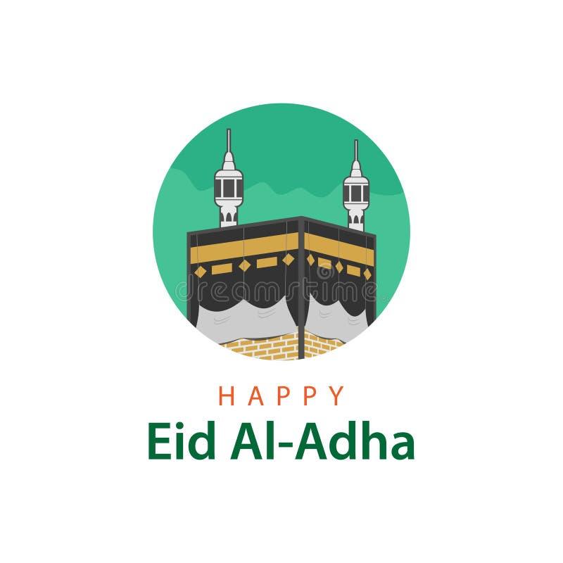 Illustrazione felice di Eid Al Adha Vector Template Design royalty illustrazione gratis