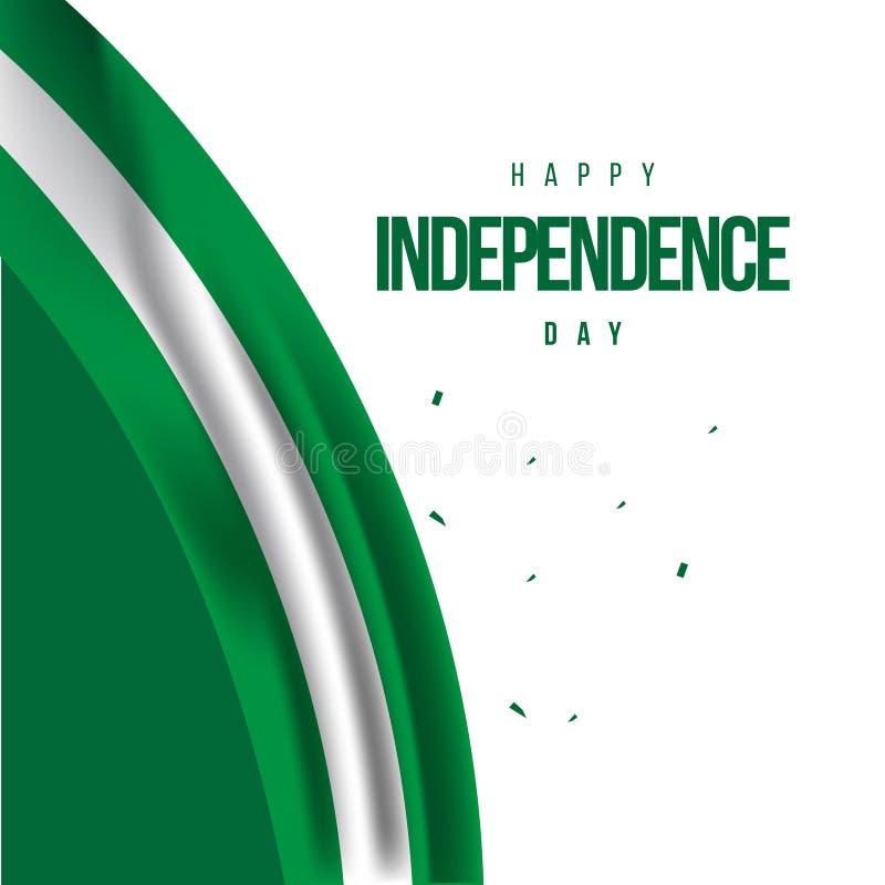 Illustrazione felice di progettazione del modello di vettore di festa dell'indipendenza della Nigeria illustrazione di stock