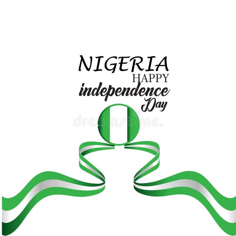 Illustrazione felice di progettazione del modello di vettore di festa dell'indipendenza della Nigeria royalty illustrazione gratis