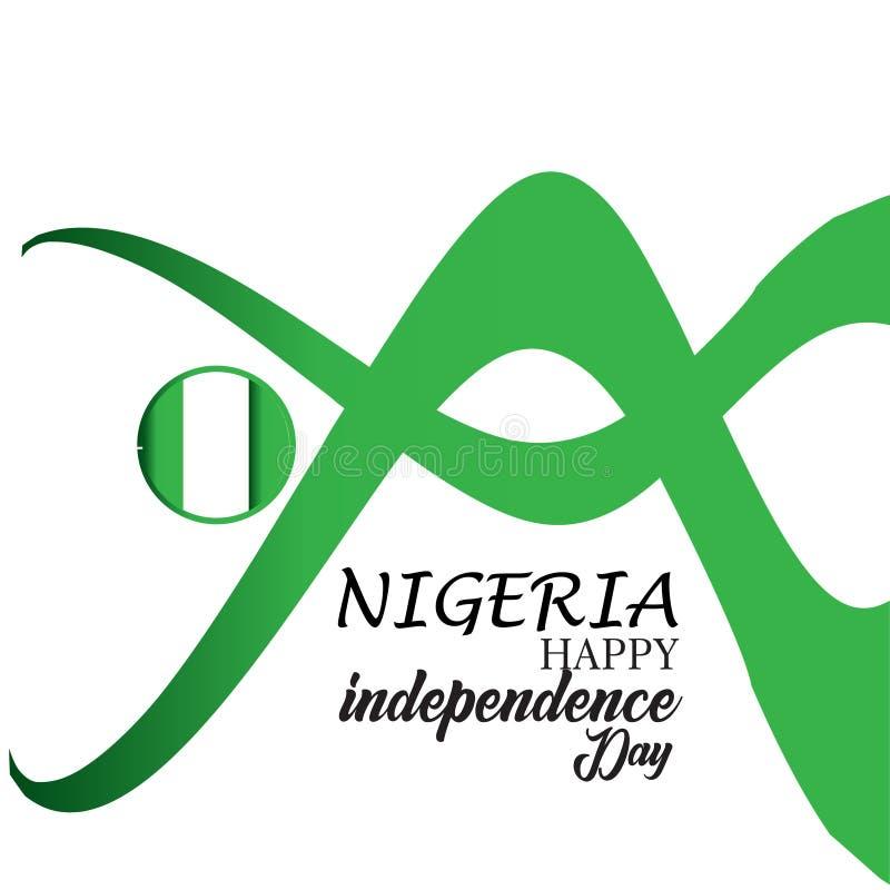 Illustrazione felice di progettazione del modello di vettore di festa dell'indipendenza della Nigeria illustrazione vettoriale