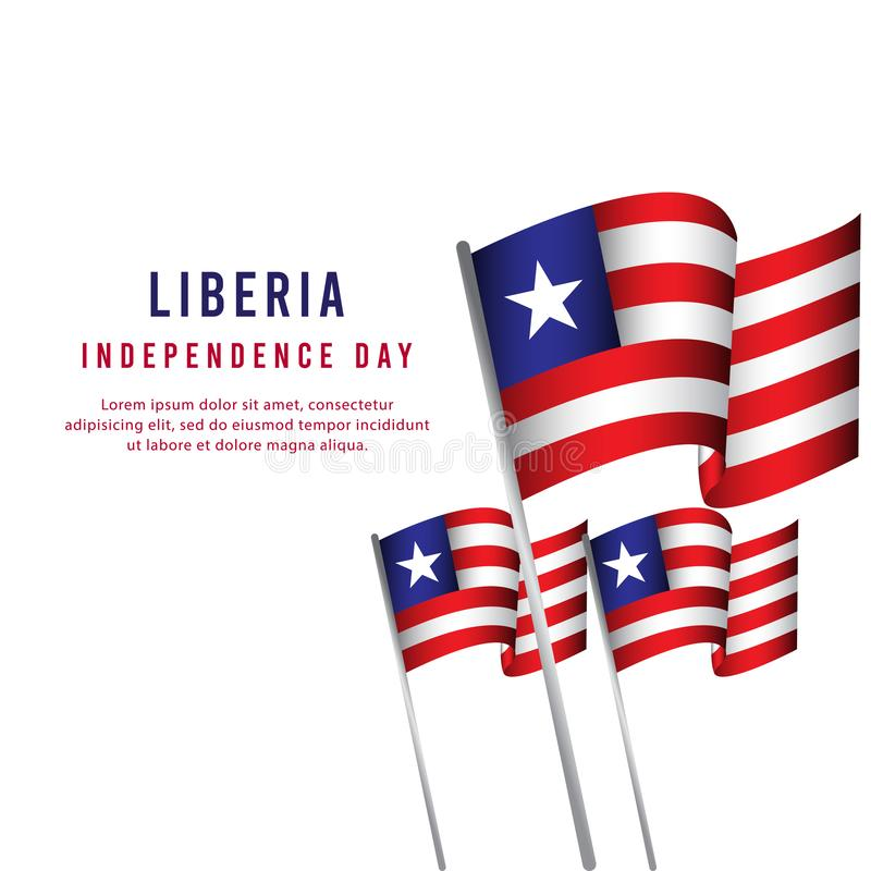 Illustrazione felice di progettazione del modello di vettore del manifesto di celebrazione di festa dell'indipendenza della Liber illustrazione vettoriale