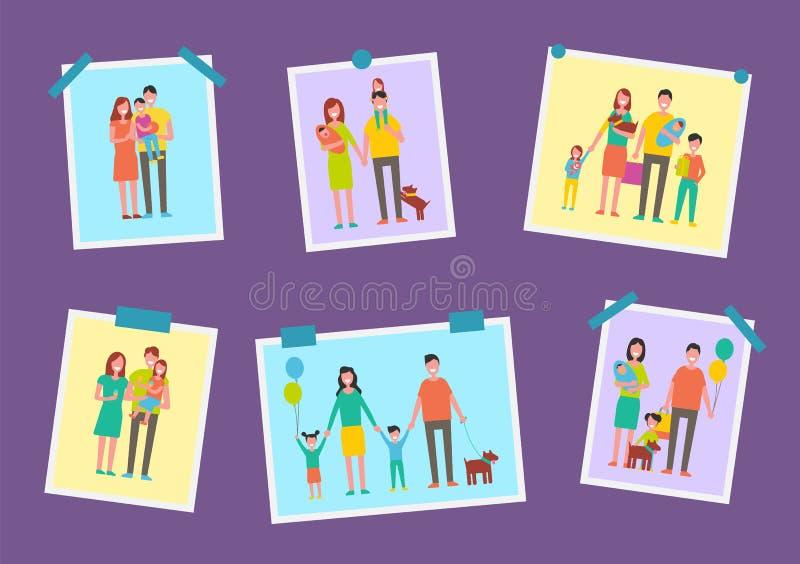 Illustrazione felice di vettore delle immagini dei genitori della famiglia royalty illustrazione gratis