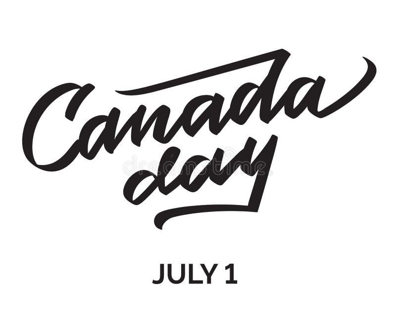 Illustrazione felice di vettore di giorno del Canada royalty illustrazione gratis