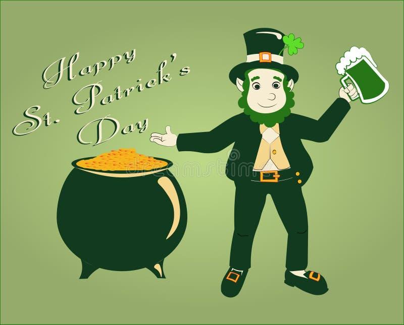 Illustrazione felice di vettore di giorno del ` s di St Patrick del manifesto illustrazione vettoriale