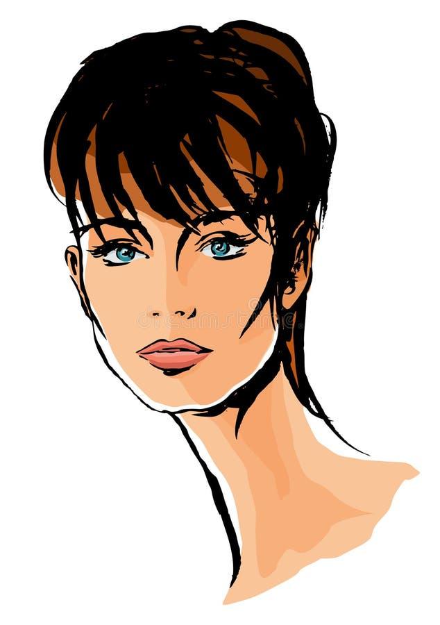 Illustrazione femminile del fronte illustrazione vettoriale