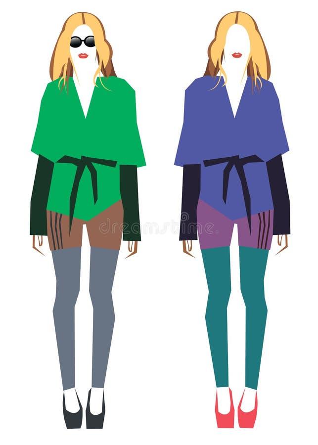 Illustrazione femminile di modo delle calze della ragazza di vettore royalty illustrazione gratis