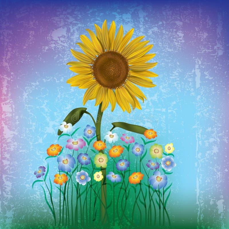 Illustrazione floreale astratta royalty illustrazione gratis