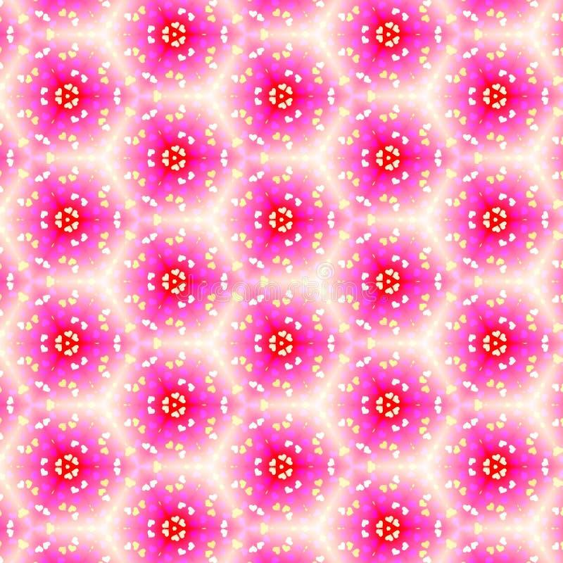 Illustrazione floreale colorata multiplo, effetto dello specchio applicato royalty illustrazione gratis