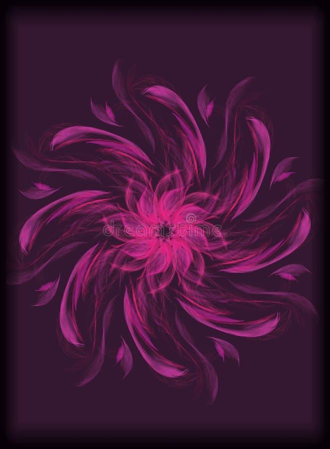illustrazione floreale rosa e porpora nera disegnata a mano royalty illustrazione gratis