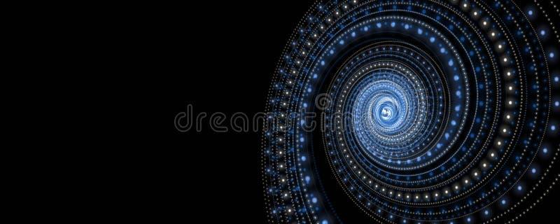 Illustrazione futuristica di progettazione di panorama della banda della particella illustrazione vettoriale