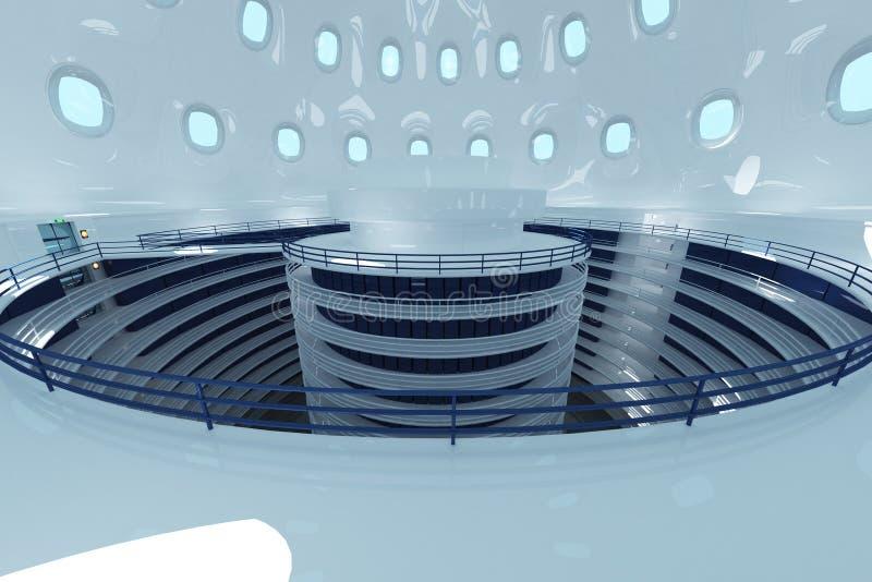Illustrazione futuristica ultra moderna del centro dati illustrazione vettoriale