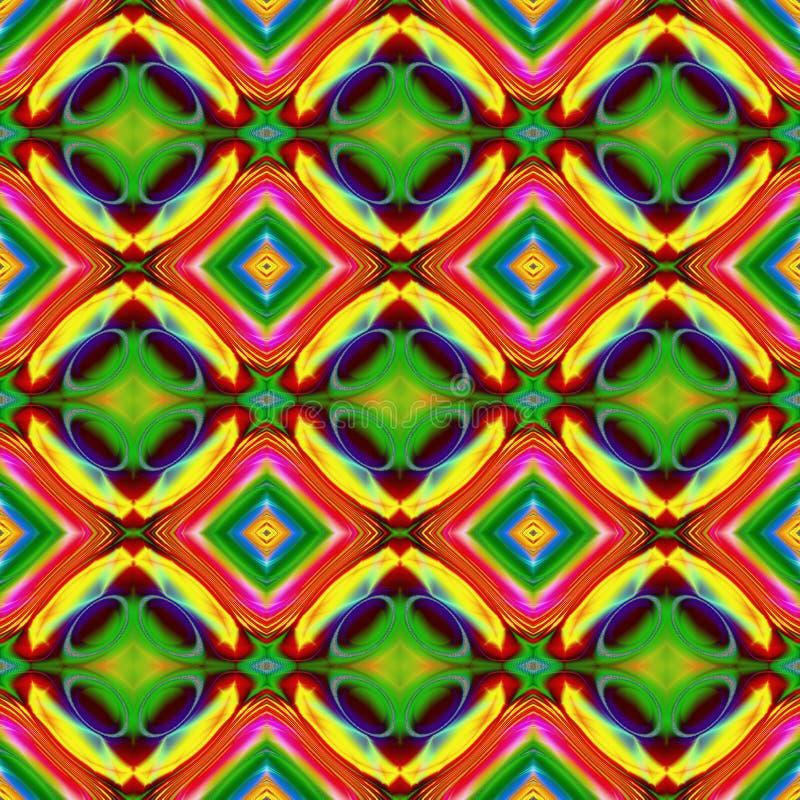 Illustrazione generata da computer con patt caleidoscopico astratto illustrazione di stock