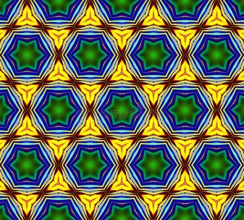 Illustrazione generata da computer con patt caleidoscopico astratto illustrazione vettoriale