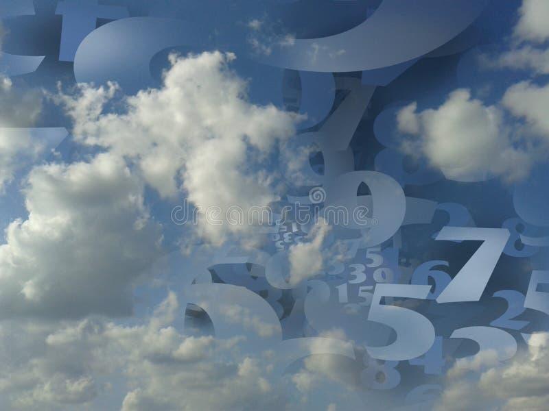 Illustrazione generata del fondo della nuvola di numeri casuali fotografia stock libera da diritti