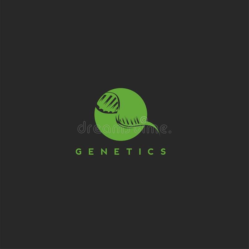 Illustrazione genetica di vettore di biologia della medicina del DNA illustrazione vettoriale