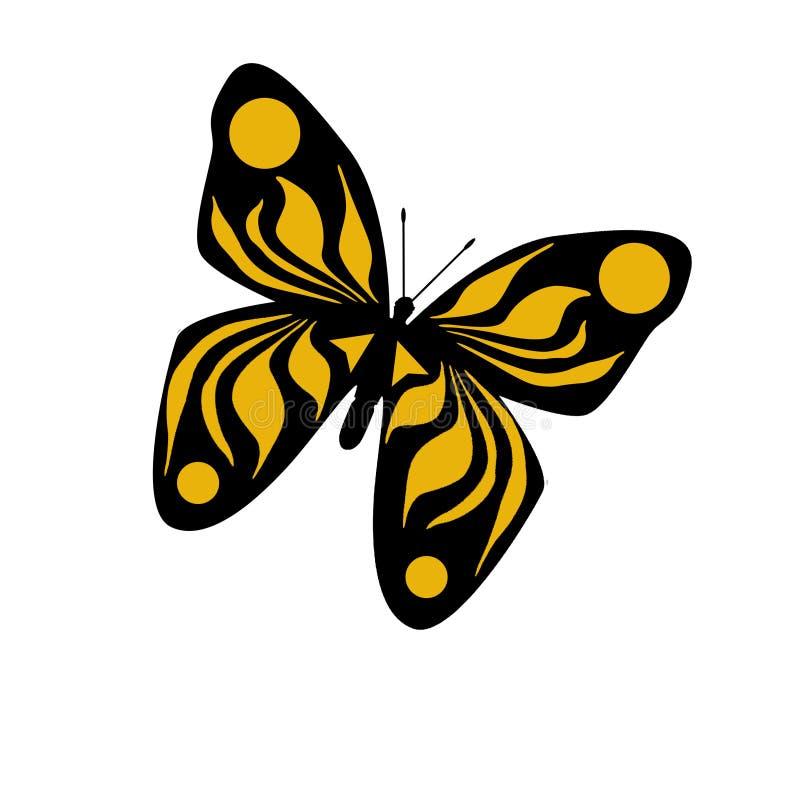 Illustrazione gialla della farfalla illustrazione di stock