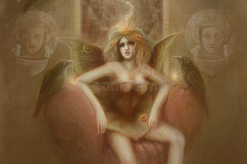 Illustrazione gotica di angelo fotografia stock libera da diritti