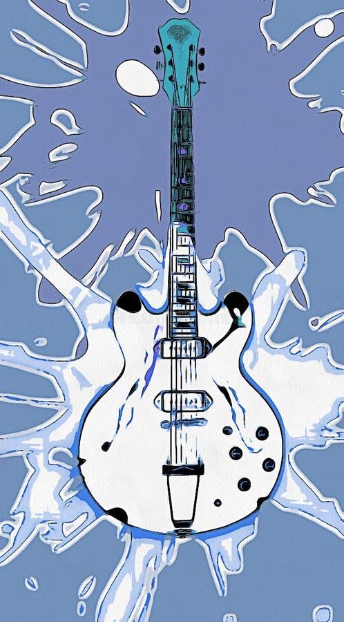 Illustrazione grafica della chitarra elettrica illustrazione vettoriale