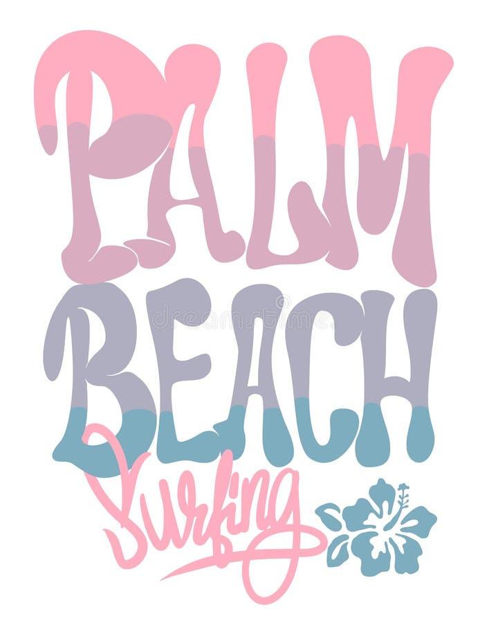 Illustrazione grafica di vettore della maglietta di California del Palm Beach illustrazione di stock