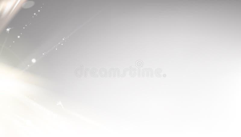 Illustrazione grigia del cielo per il tema di scienza Immagine con il posto del testo, la spruzzata leggera ed i punti al fondo S royalty illustrazione gratis